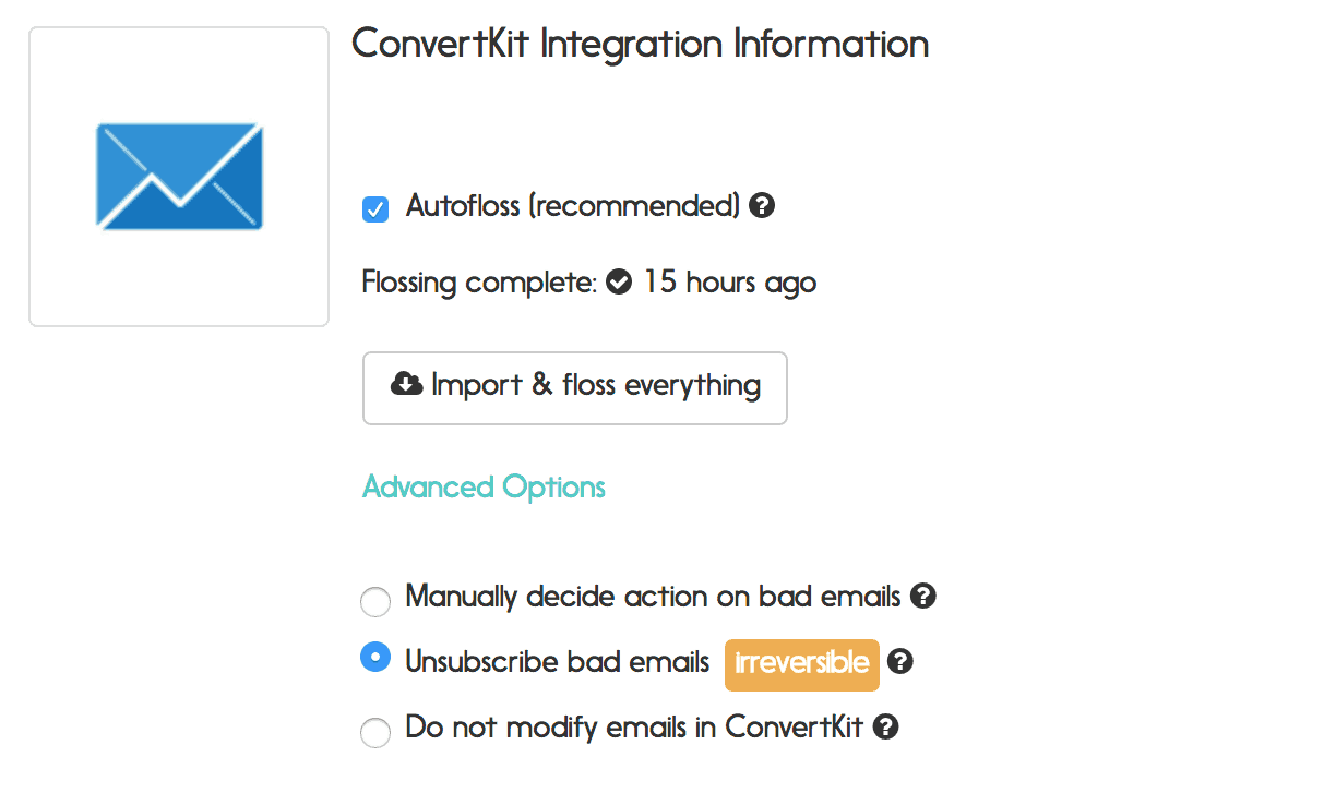 convertkit email verification options