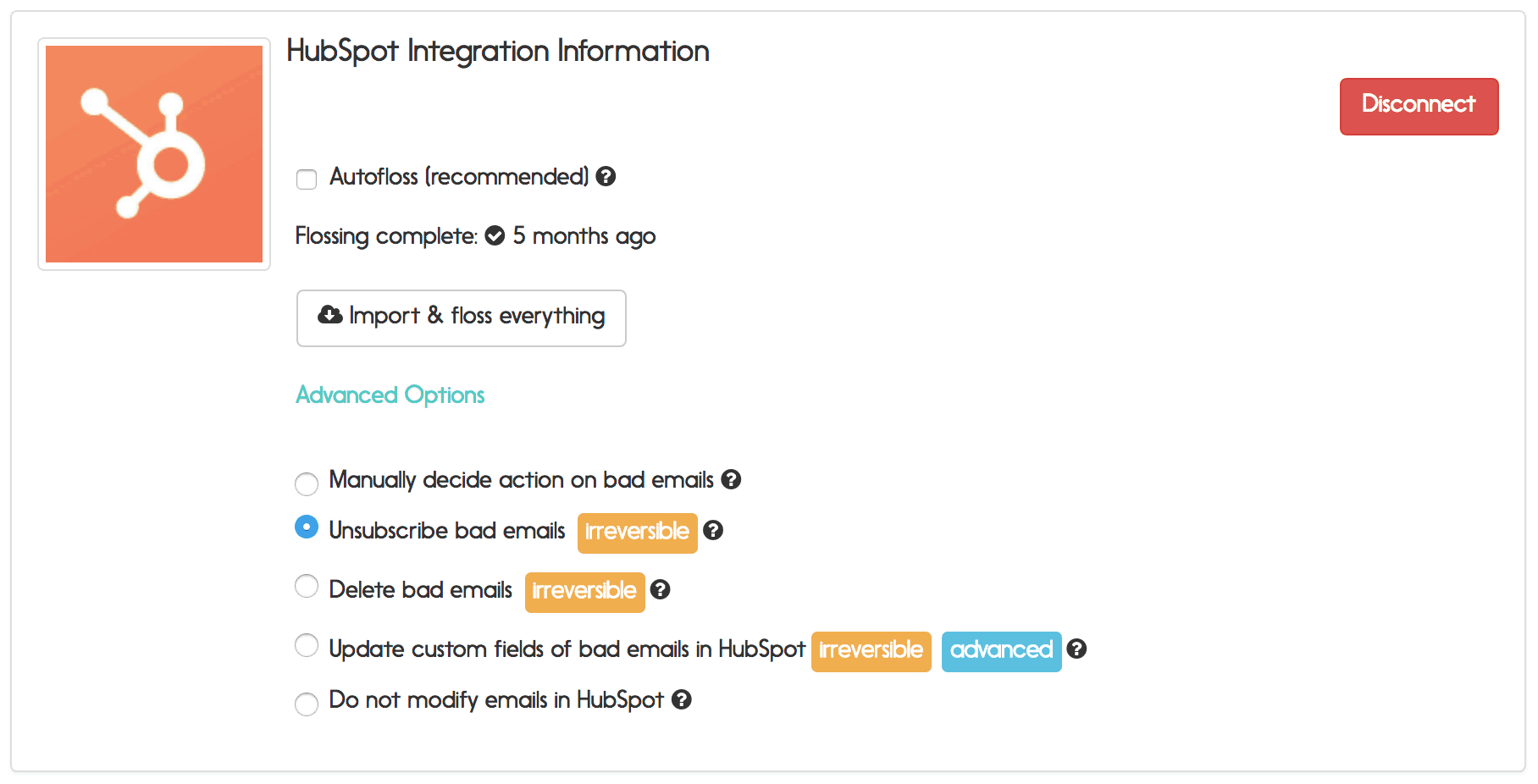 hubspot email verification options