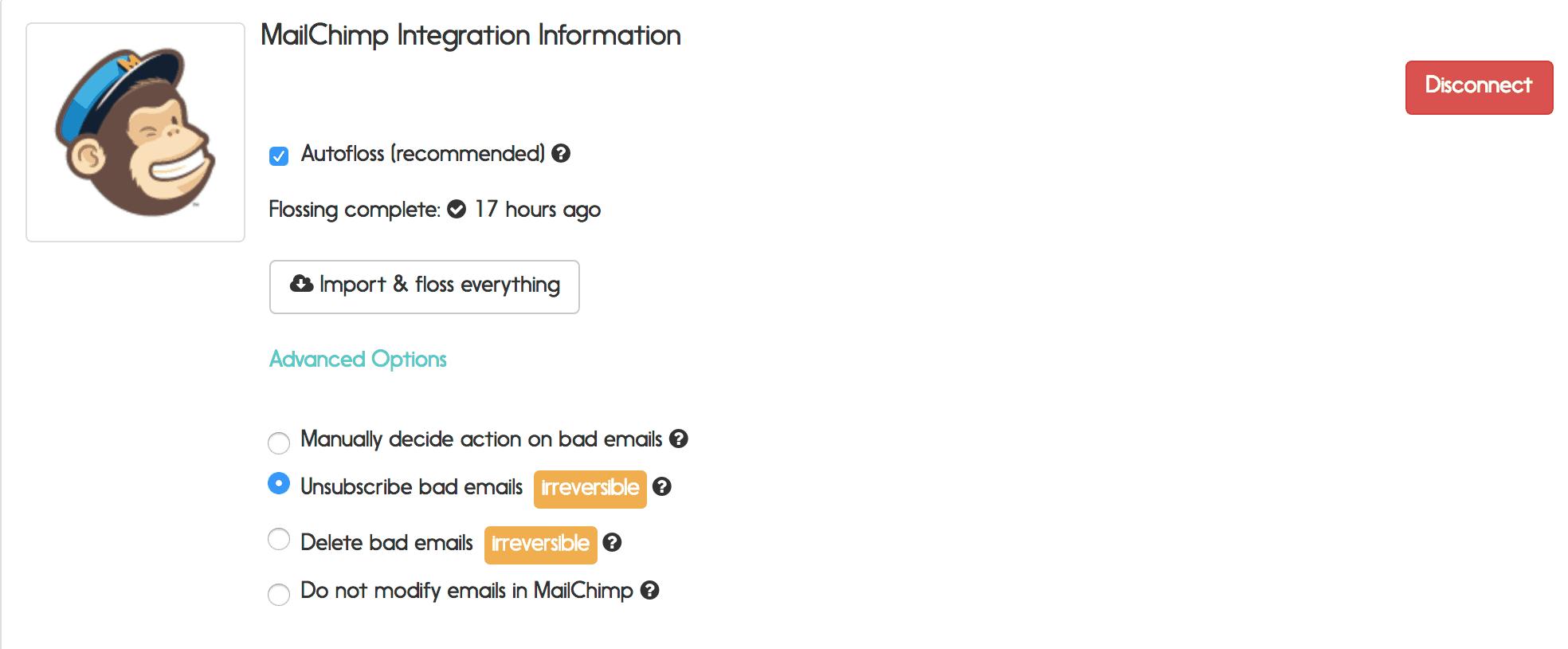 mailchimp email verification options