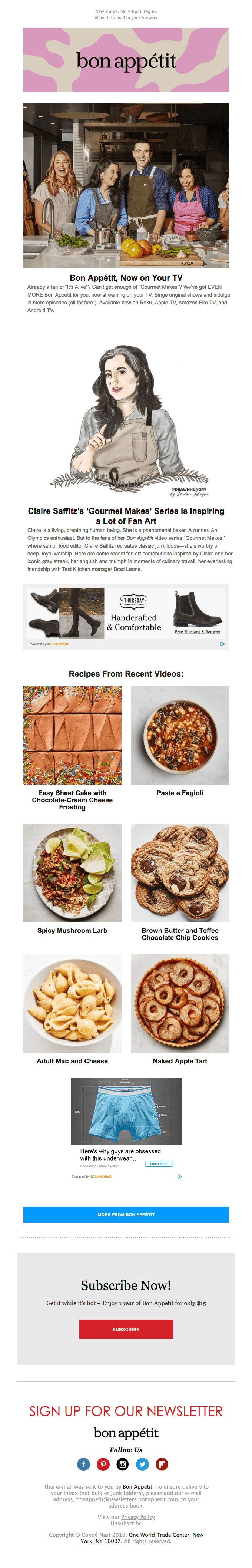 bon appetit spices up their emails to inspire