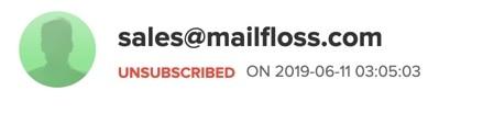 mailerlite email verification unsubscribed status