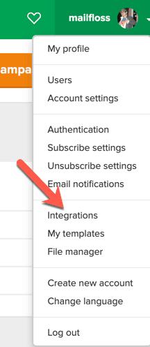 step 4 - click Integrations