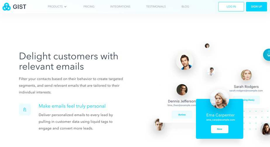 Gist Email Marketing